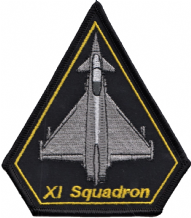 No. XI (11) Squadron RAF Eurofighter Typhoon Spearhead Embroidered Patch